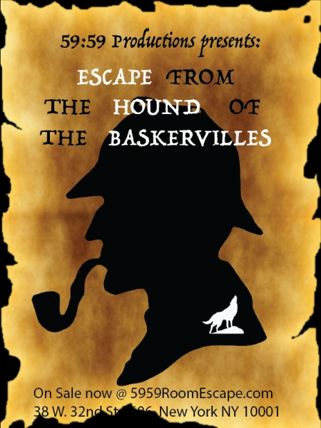 Квест Escape from the Hound of the Baskervilles, 59:59 Room Escape NYC. Нью-Йорк.
