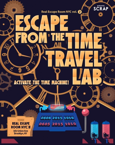 Escape Game Escape from the Time Travel Lab, SCRAP. New York.